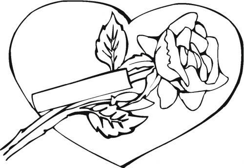 mazzo di rose con cuore