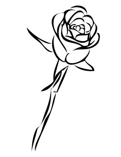 disegno bocciolo di rosa