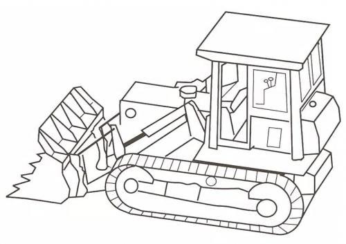 ruspa e camion da colorare
