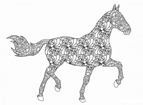 sagoma cavallo stilizzato