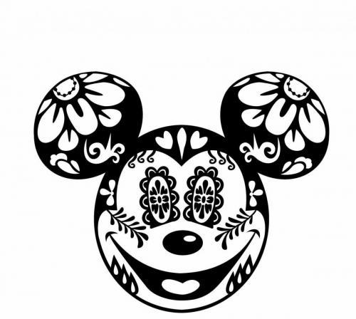 sagoma faccia topolino