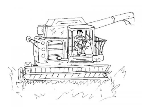 sagoma trattore