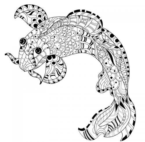 pesce stilizzato che nuota a sinistra