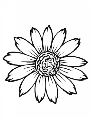 sagome fiori da ritagliare