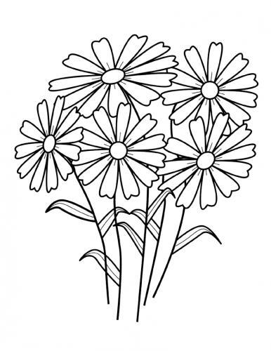 sagome fiori da stampare