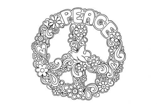 simbolo della pace adornato
