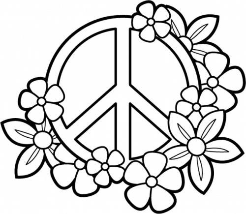 simbolo della pace e fiori