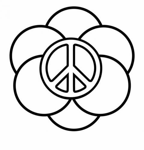 simbolo della pace da colorare