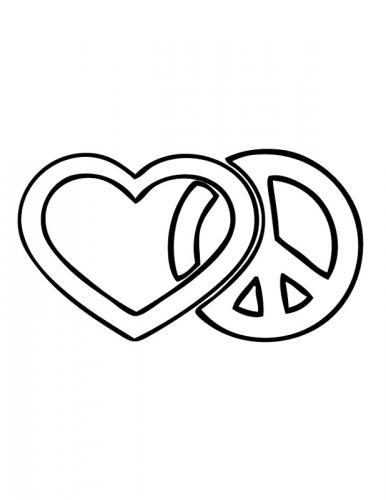 cuore e simbolo della pace