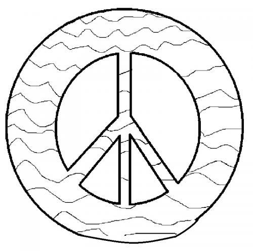 simbolo pace con onde