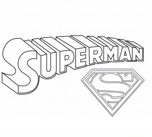 simbolo Superman da colorare