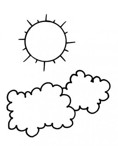 il sole tra due nuvole