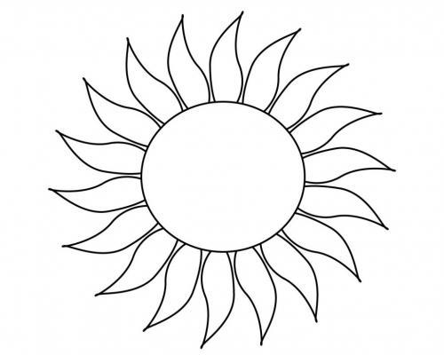 sole a forma di girasole