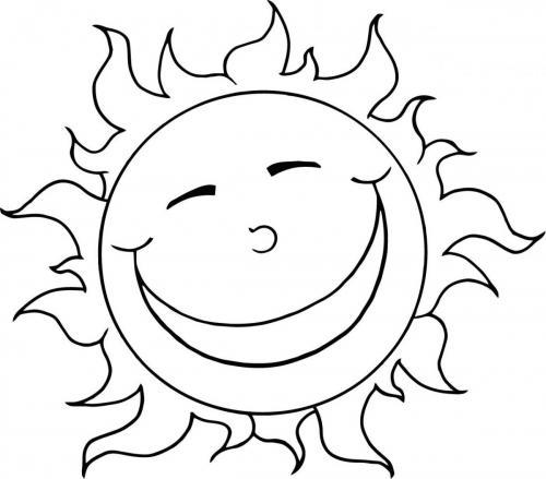 disegno del sole che ride