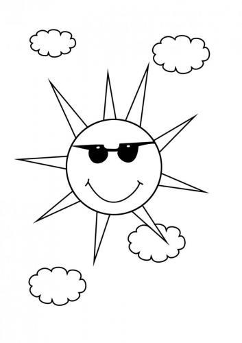 immagine del sole con occhiali scuri