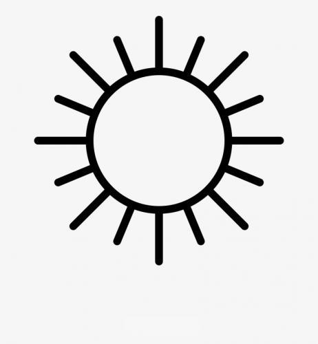 disegno del sole stilizzato con i raggi