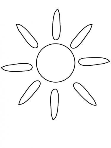 sole con i raggi distanti