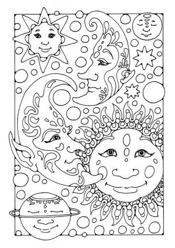 la luna con il sole