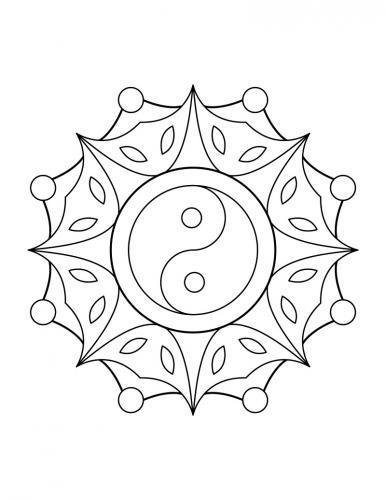 sole con il segno yin e yang
