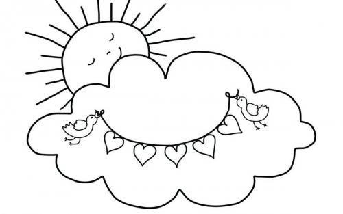 sole che dorme su una nuvola