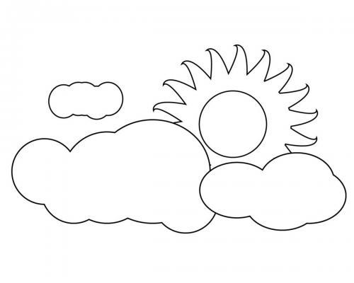le nuvole e il sole