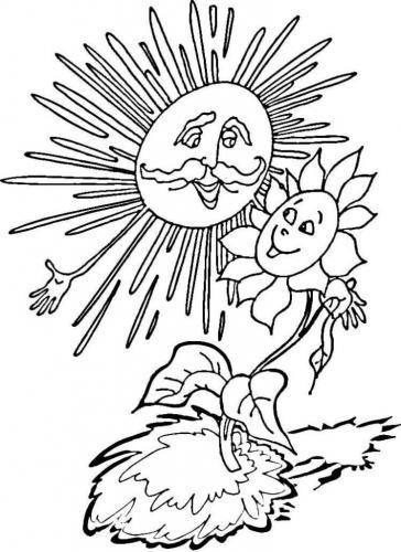 il sole con un fiore