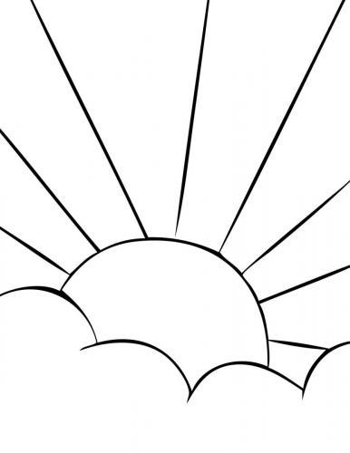 il sole si nasconde tra le nuvole