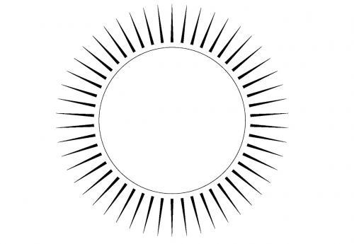 immagine del sole con raggi a punta