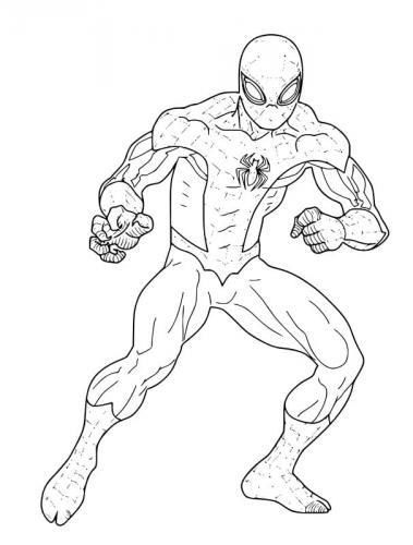 spiderman che combatte