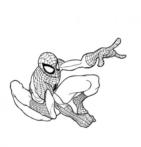 spiderman da colorare e stampare gratis