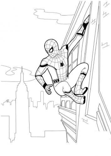 spiderman da colorare on line