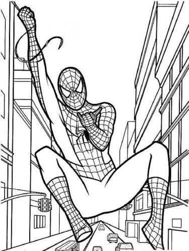 spiderman da colorare online