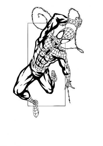 spiderman da stampare e colorare per bambini