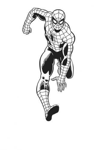 spiderman disegni da colorare per bambini