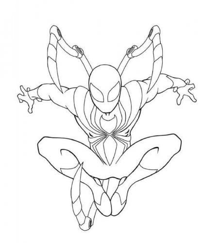 spiderman disegno da colorare