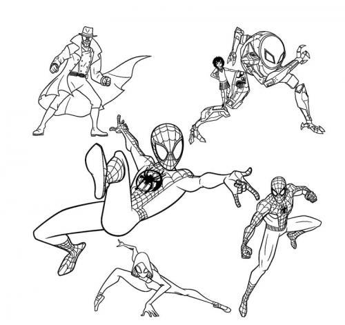 spiderman da colorare e stampare