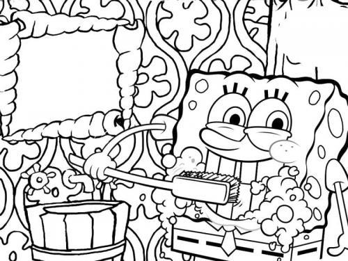 Spongebob si lava i denti