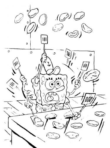 Spongebob in cucina