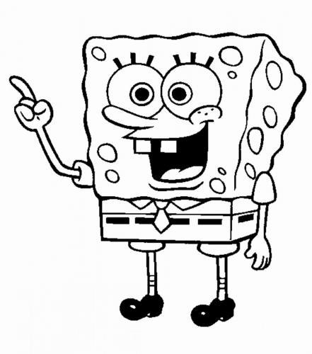 Spongebob contento