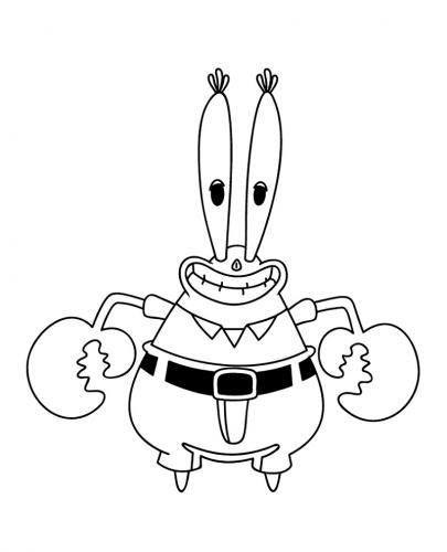 Mr Krab sorridente