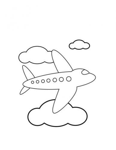 stampa e colora aereo