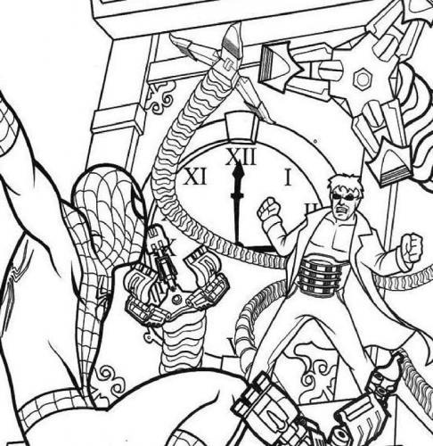 stampa e colora spiderman
