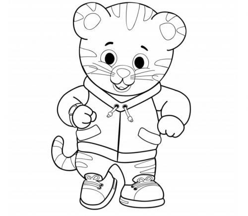 stampa e colora tigre Daniel Tiger