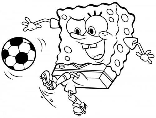 Spongebob calciatore