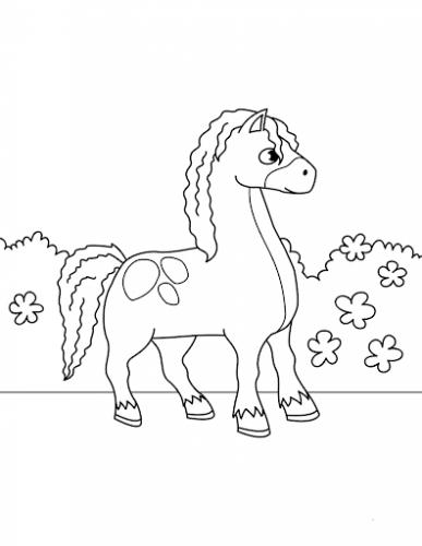 stampe di cavalli da colorare