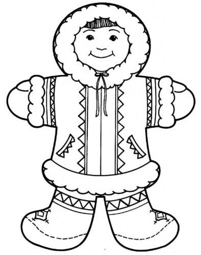bimbo vestito da neve