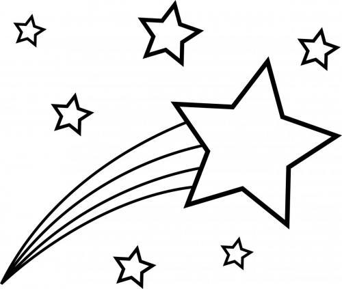 Stella cometa con altre stelle