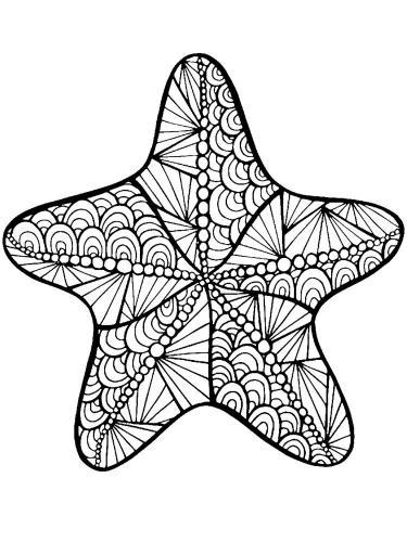 stella da colorare per adulti