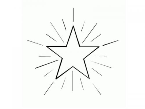 stella da disegnare