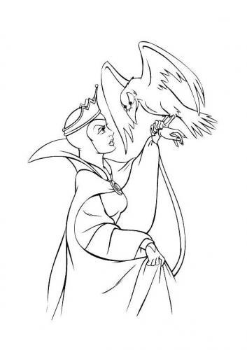 La strega Biancaneve da colorare